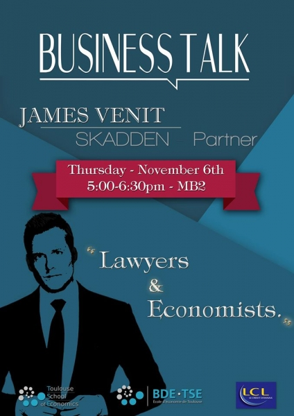 "Business Talk: ""Lawyers and Economists"" par James VENIT"