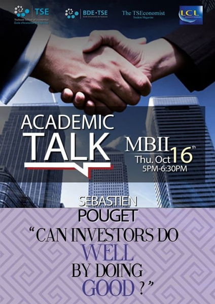 "Résumé: Academic Talk ""Can investors do well by doing good?"""